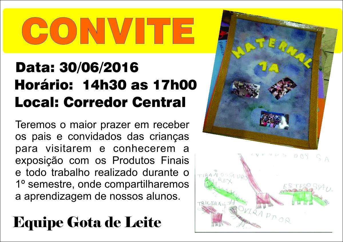 Convite exposição 1 semestre 2016